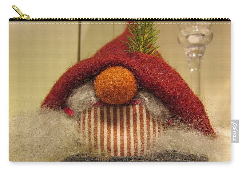 Santa Claus Carry-all Pouch featuring the photograph Santas Nose by Rosita Larsson