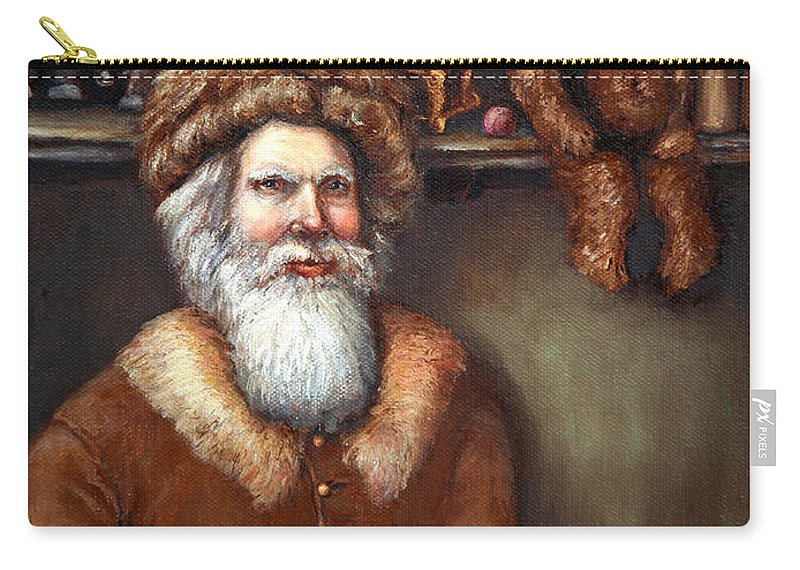 Holiday Art Carry-all Pouch featuring the painting Santas Special Toys by Portraits By NC