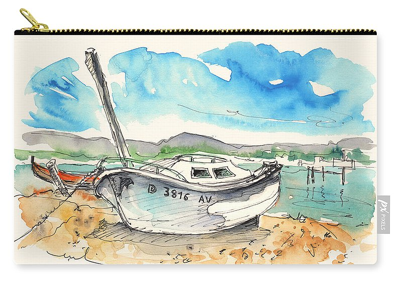 Travel Carry-all Pouch featuring the painting Sao Jacinto 05 by Miki De Goodaboom