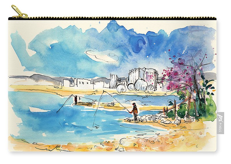 Travel Carry-all Pouch featuring the painting Sao Jacinto 06 by Miki De Goodaboom