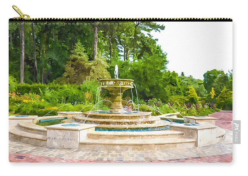 Sarah Lee Baker Perennial Garden Carry-all Pouch featuring the painting Sarah Lee Baker Perennial Garden 5 by Jeelan Clark