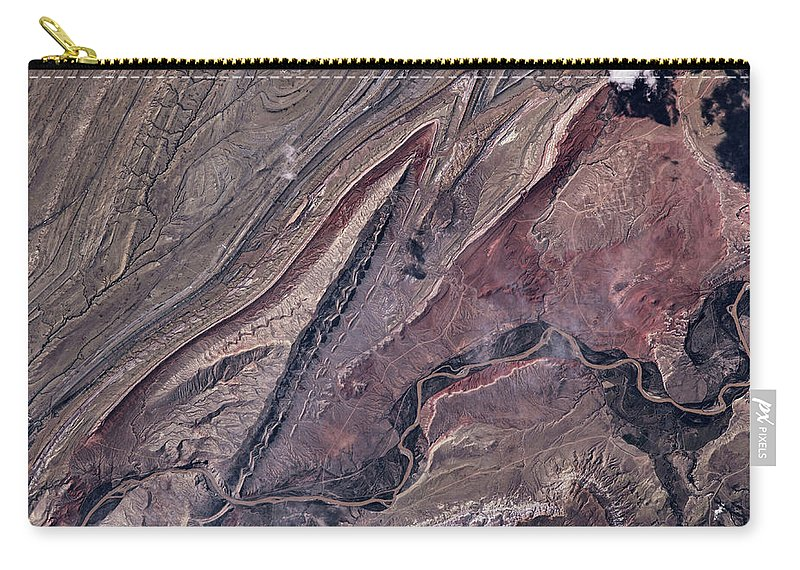 Photography Carry-all Pouch featuring the photograph Satellite View Of Big Horn, Wyoming, Usa by Panoramic Images