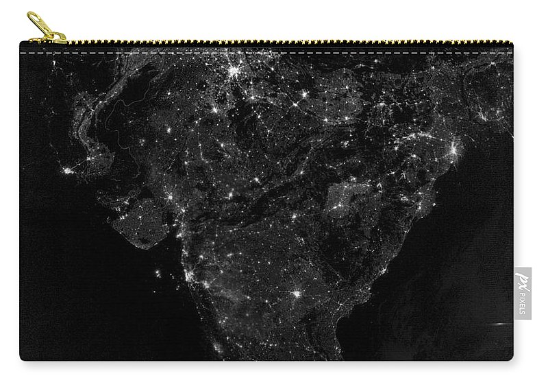 Vertical Carry-all Pouch featuring the photograph Satellite View Of City, Village by Stocktrek Images