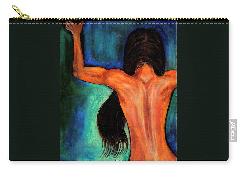 Beautiful Carry-all Pouch featuring the photograph Satin Curves by Artist RiA