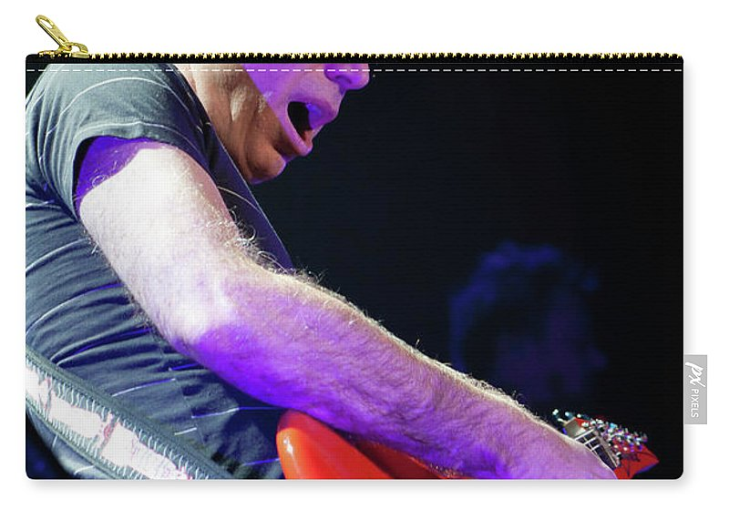 Joe Satriani Carry-all Pouch featuring the photograph Satriani 3117 by Timothy Bischoff