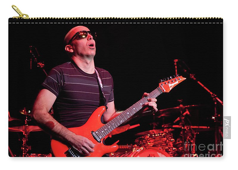 Joe Satriani Carry-all Pouch featuring the photograph Satriani 3235 by Timothy Bischoff