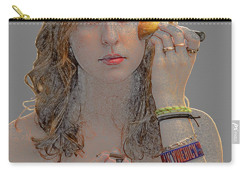 Young Carry-all Pouch featuring the photograph Saturday Night by Paul Cannon