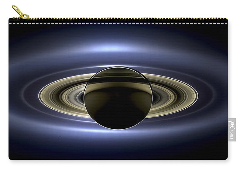3scape Carry-all Pouch featuring the photograph Saturn Mosaic With Earth by Adam Romanowicz