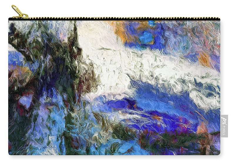 Abstract Carry-all Pouch featuring the painting Sausalito by Dominic Piperata
