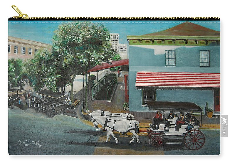 Carry-all Pouch featuring the painting Savannah City Market by Jude Darrien