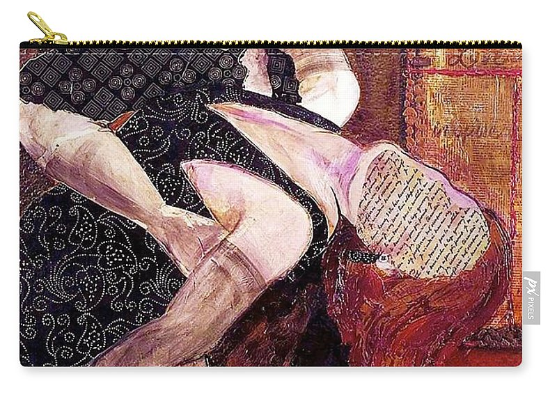 Couple Carry-all Pouch featuring the painting Save The Last Dance For Me by Debi Starr