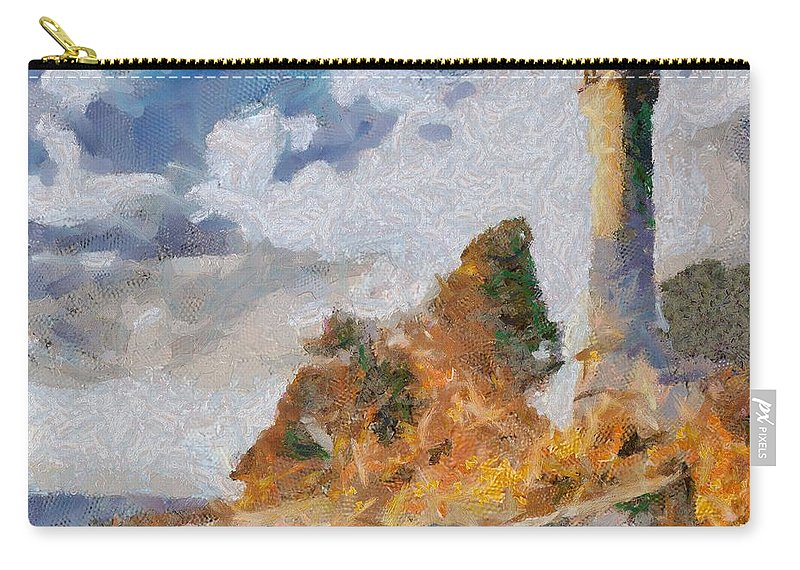 Lighthouse Carry-all Pouch featuring the painting Savudrija Lighthouse by Dragica Micki Fortuna