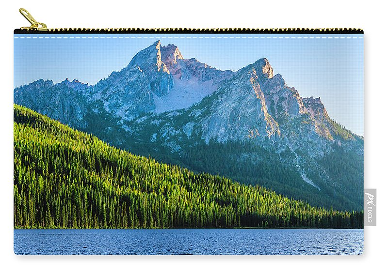 Scenics Carry-all Pouch featuring the photograph Sawtooth Mountains And Stanley Lake by Dszc