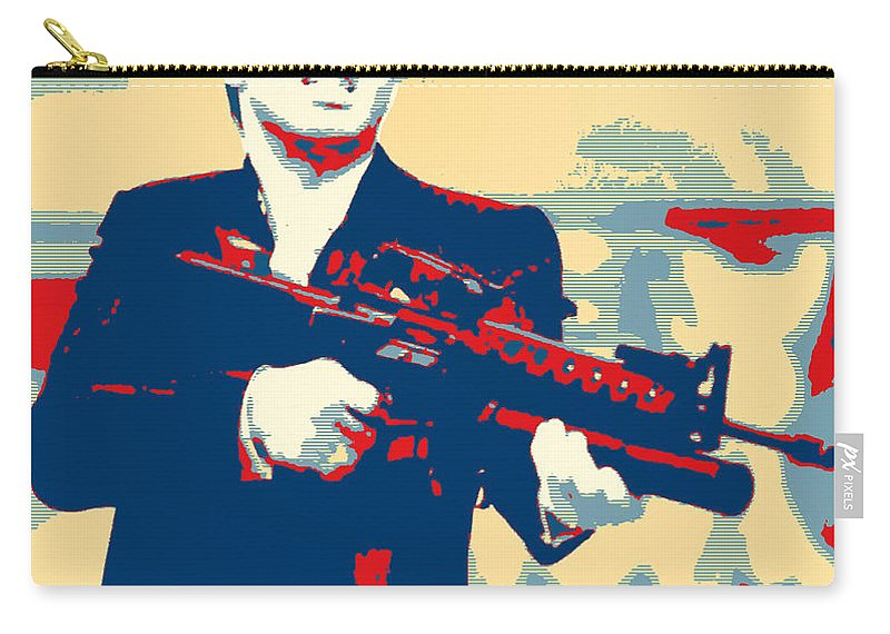 Pop Art Carry-all Pouch featuring the mixed media Scarface by Dominic Piperata