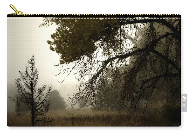 Fog Carry-all Pouch featuring the photograph Scary Trees by Marilyn Hunt