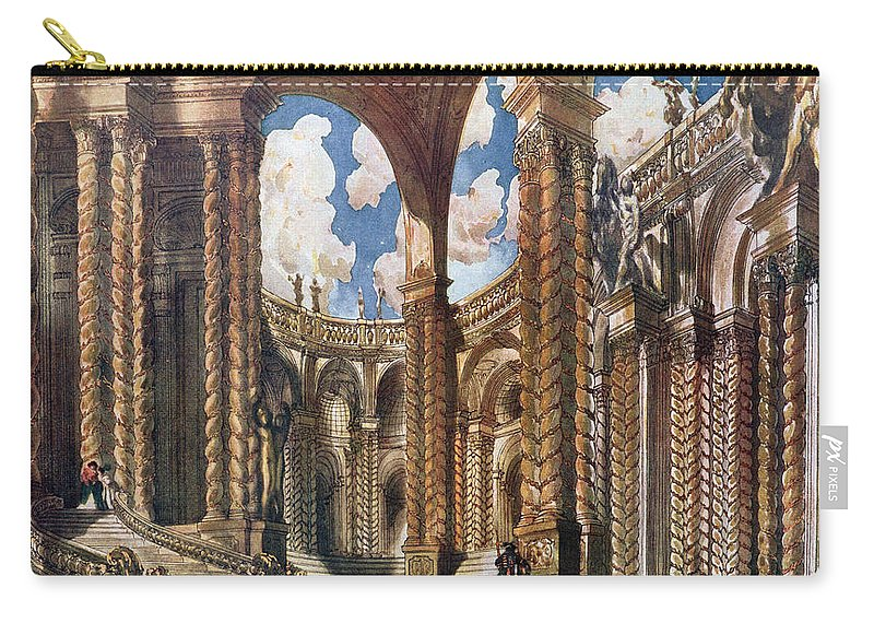 Stage Carry-all Pouch featuring the drawing Scenery Design For The Betrothal by Leon Bakst