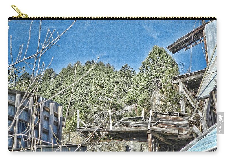 Dakota Carry-all Pouch featuring the photograph Scenes From An Abandoned Factory In South Dakota 2 by Cathy Anderson
