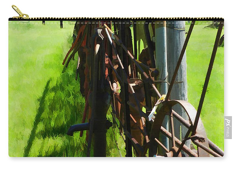 Antiques Carry-all Pouch featuring the photograph Scenes From An Antique Store by Cathy Anderson