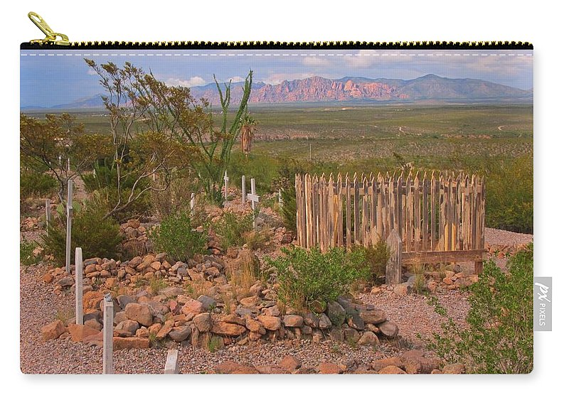 Scenic Boothill Cemetery In Tombstone Arizona Carry-all Pouch featuring the photograph Scenic Boothill Cemetery In Tombstone Arizona by John Malone