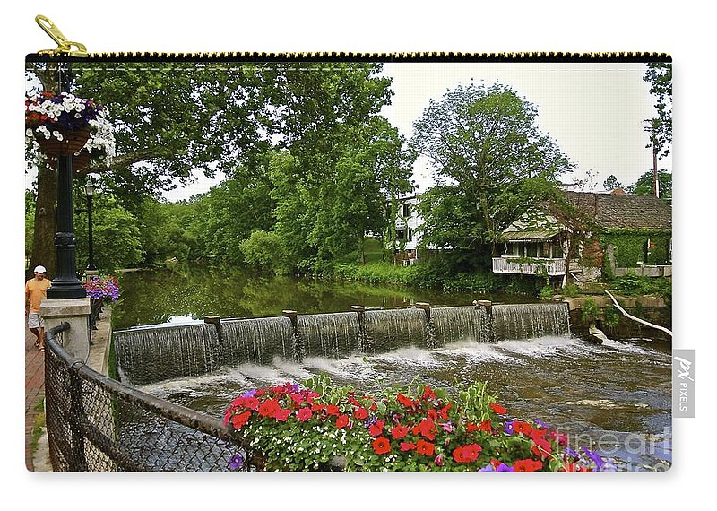 Romantic Carry-all Pouch featuring the photograph Scenic Falls by Customikes Fun Photography and Film Aka K Mikael Wallin