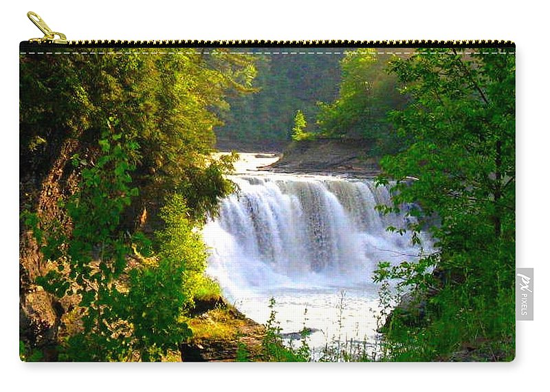 Falls Carry-all Pouch featuring the photograph Scenic Falls by Rhonda Barrett