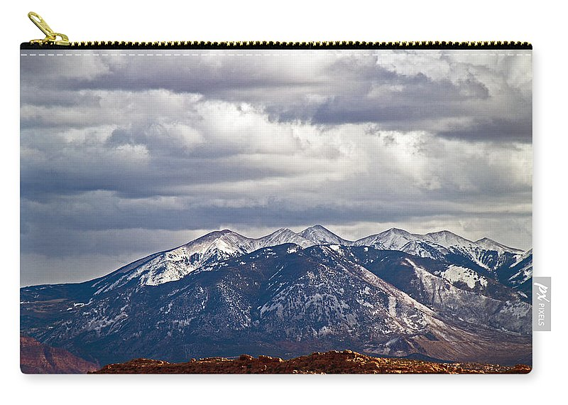 Mountains Carry-all Pouch featuring the photograph Scenic Moutains by David Campbell