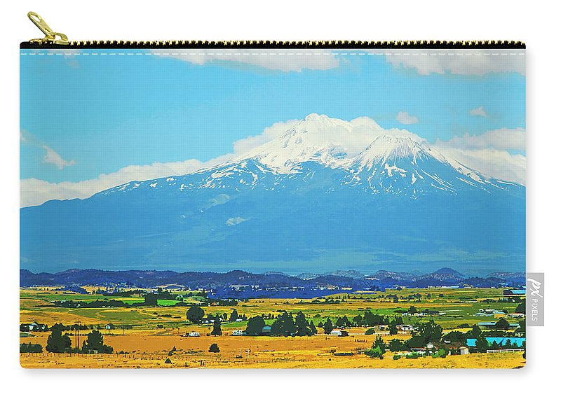 Mt Shasta Carry-all Pouch featuring the photograph Scenic Mt Shasta California by Donna Haggerty