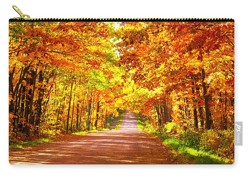 Road Carry-all Pouch featuring the photograph Scenic Tour by Tiffany Erdman