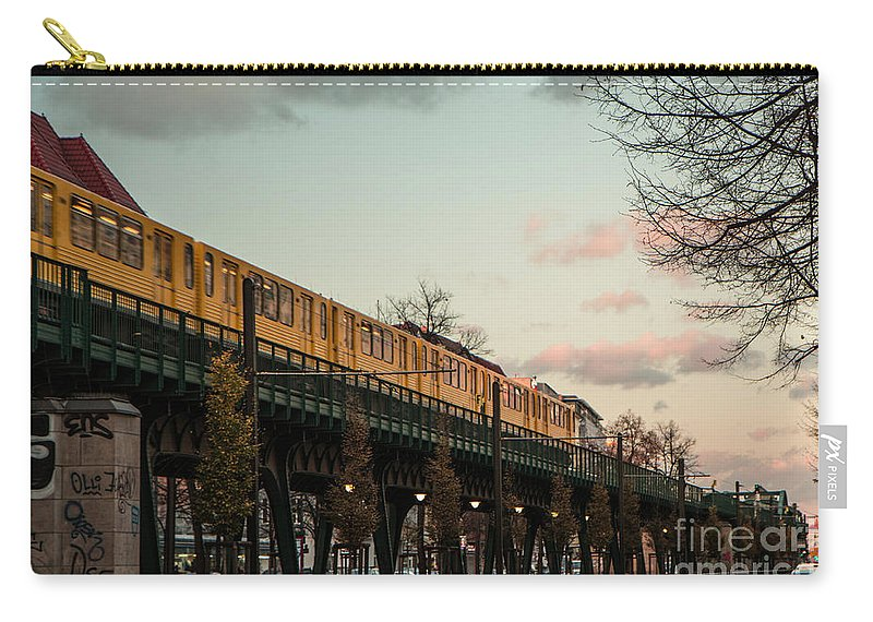 Berlin Carry-all Pouch featuring the photograph Schoenhauser Allee Berlin by Jivko Nakev