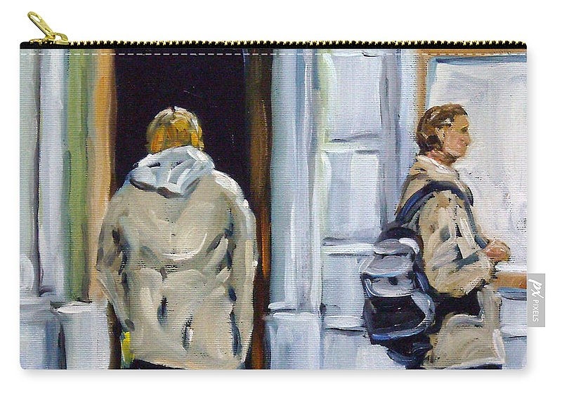 Urban Carry-all Pouch featuring the painting School Days by Richard T Pranke