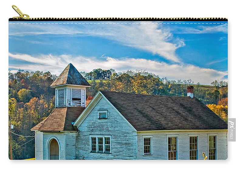 West Virginia Carry-all Pouch featuring the photograph School Is Out by Steve Harrington