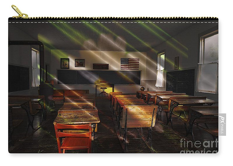 School - Old School Charm Carry-all Pouch featuring the photograph School - Old School Charm by Liane Wright