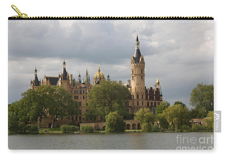 Schwerin Carry-all Pouch featuring the photograph Schwerin Palace - Germany by Christiane Schulze Art And Photography