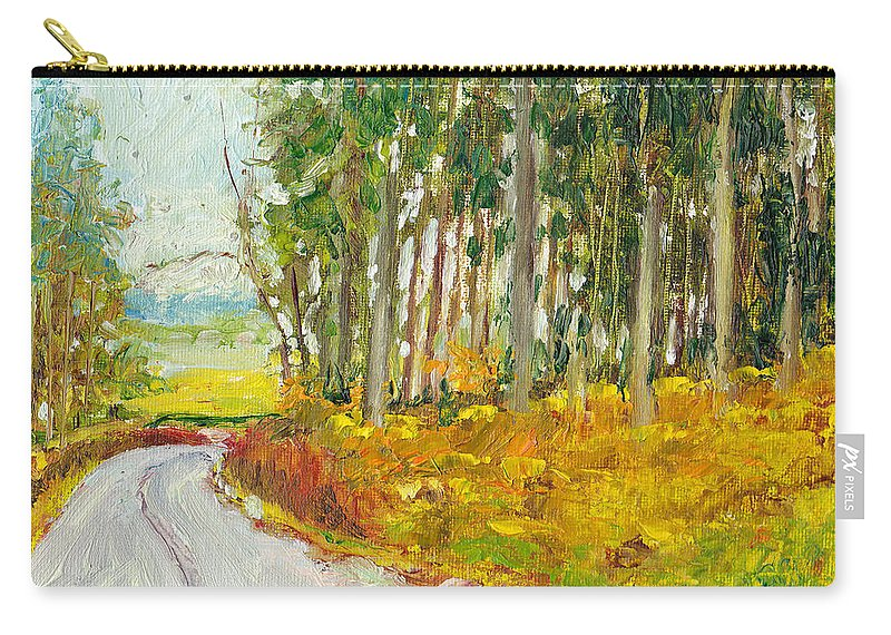 Landscape Carry-all Pouch featuring the painting Scottish Forest In Spring by Dai Wynn