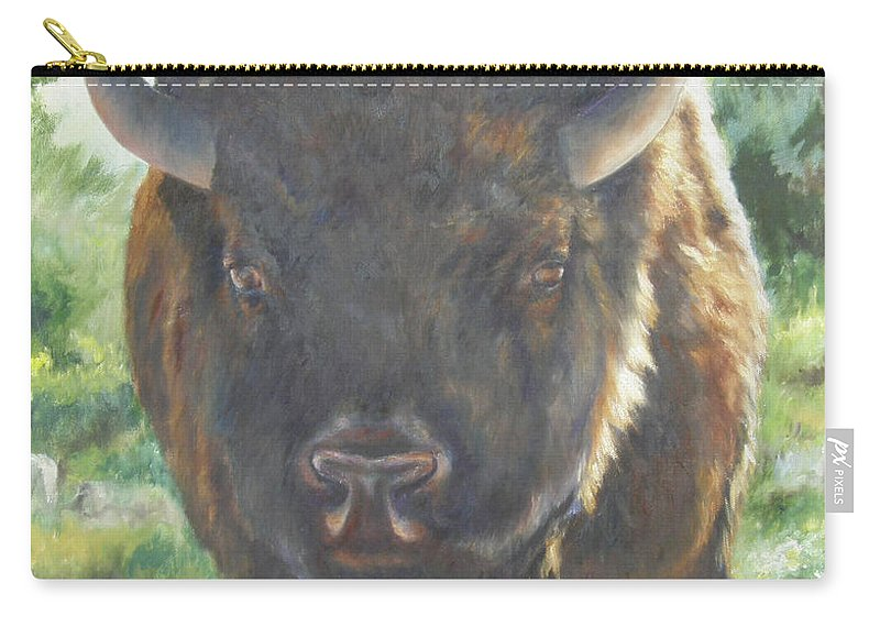 Lori Brackett Carry-all Pouch featuring the painting Scout by Lori Brackett