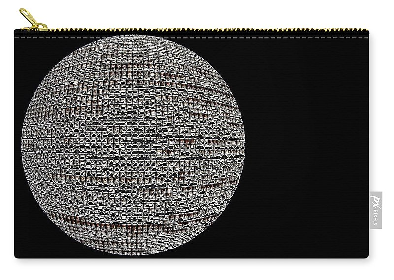 Window Carry-all Pouch featuring the photograph Screen Orb-06 by Larry Jost