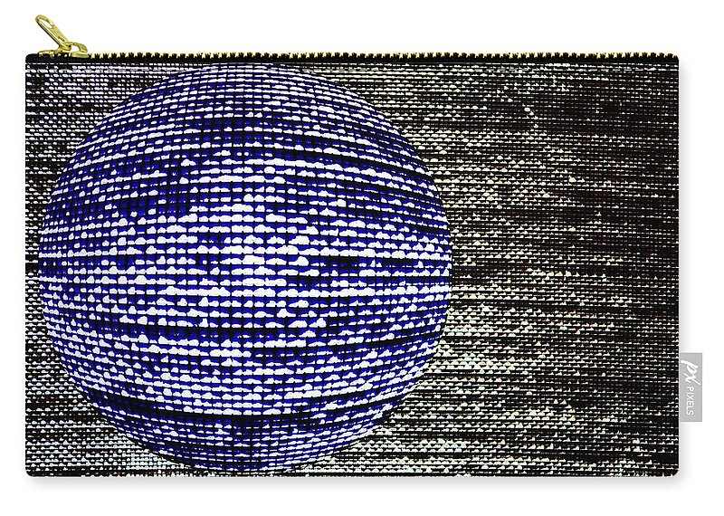 Window Carry-all Pouch featuring the photograph Screen Orb-23 by Larry Jost