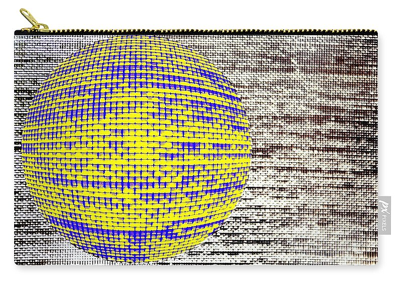 Window Carry-all Pouch featuring the photograph Screen Orb-25 by Larry Jost