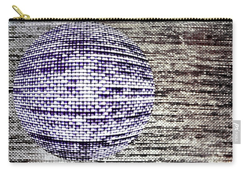 Window Carry-all Pouch featuring the photograph Screen Orb-26 by Larry Jost