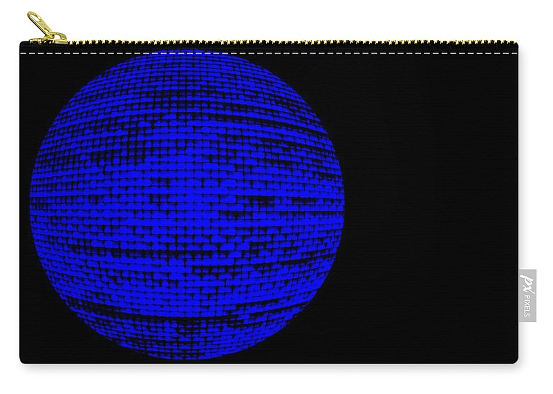 Window Carry-all Pouch featuring the photograph Screen Orb-27 by Larry Jost