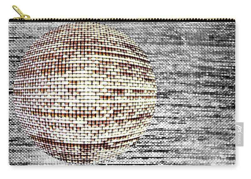Window Carry-all Pouch featuring the photograph Screen Orb-29 by Larry Jost