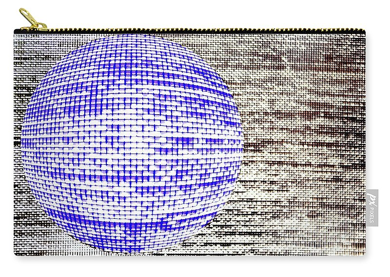 Window Carry-all Pouch featuring the photograph Screen Orb-30 by Larry Jost