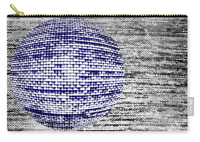 Window Carry-all Pouch featuring the photograph Screen Orb-32 by Larry Jost