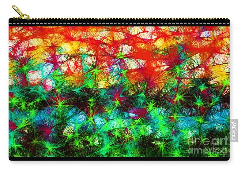 Fractal Art Carry-all Pouch featuring the digital art Scribble Thicket by Elizabeth McTaggart