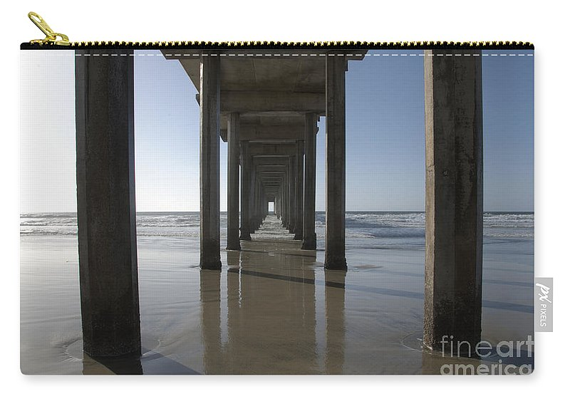 San Diego Carry-all Pouch featuring the photograph Scripps Pierla Jolla California by Bob Christopher