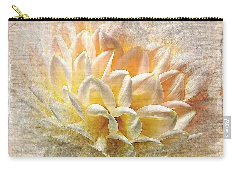 Photography Carry-all Pouch featuring the photograph Scrolled Dahlia by Kaye Menner