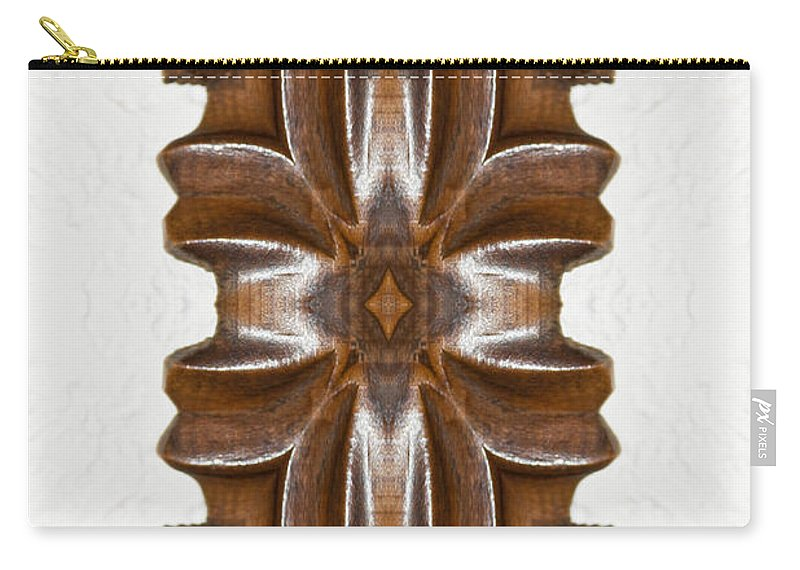 Wooden Carry-all Pouch featuring the photograph Sculpted Mandala Yantra by Marie Jamieson
