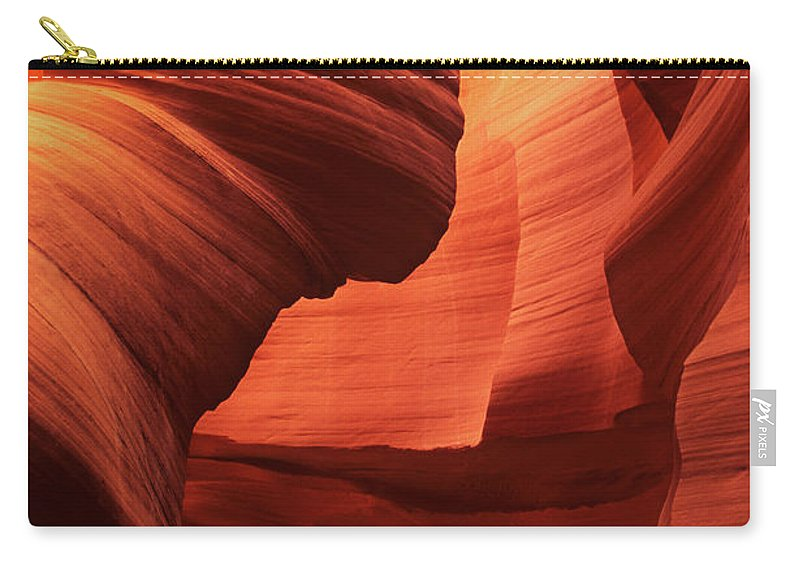 North America Carry-all Pouch featuring the photograph Sculpted Sandstone Upper Antelope Slot Canyon Arizona by Dave Welling