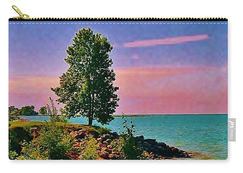 Laake Huron Carry-all Pouch featuring the photograph Sea And Tree by Daniel Thompson