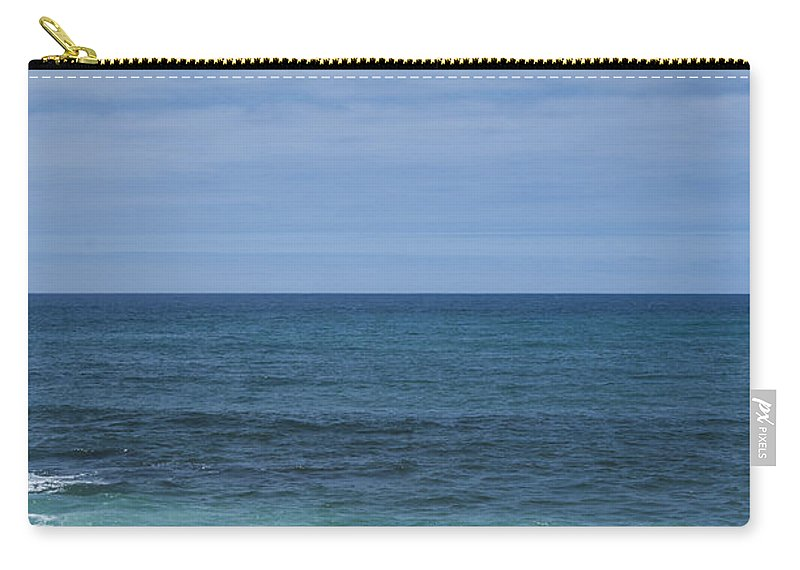 Abstract Carry-all Pouch featuring the photograph Sea And Wooden Platform by Paulo Goncalves